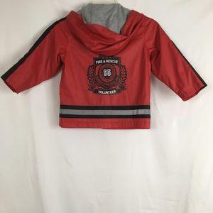 Oshkosh Raincoat Jacket Fireman Costume Boy Size 4